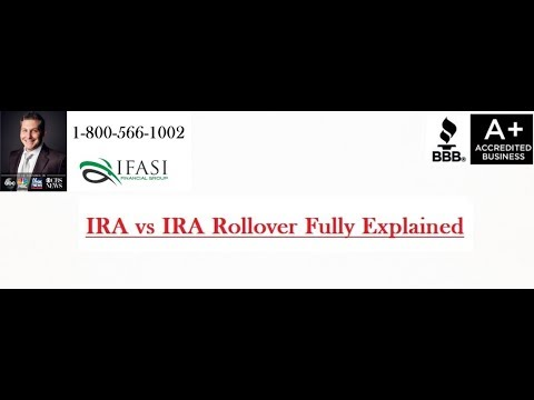 IRA vs IRA Rollover - What is an IRA vs IRA Rollover