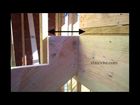 How To Check Stringer Ledger Connection During Layout - Stair Construction