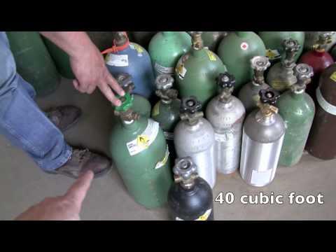 how to buy used welding gas bottles oxygen acetylene argon tank Austin Texas