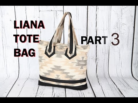 LIANA - 3 tote bag / made with curtain fabric / DIY Bag Vol 23C