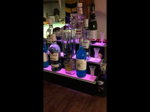 Multicolored LED Bottle Display with Remote - Led Bottle