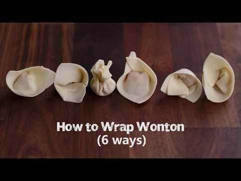 How to Wrap Wonton 如何包馄饨