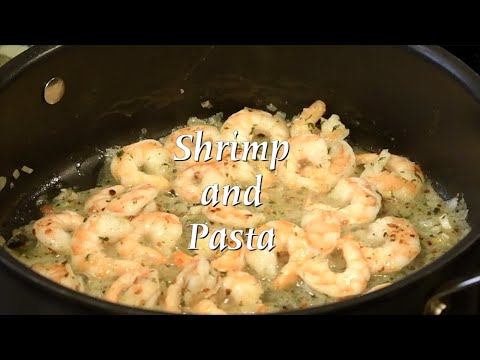Shrimp and Pasta with Shallots and Lemon Pepper Olive Oil