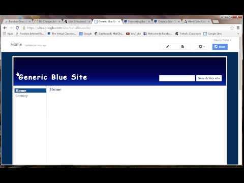 Changing Background Color on Google Sites