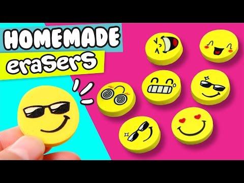 DIY ★ HOMEMADE EMOJI ERASER ★ Easy DIY Crafts By Pau