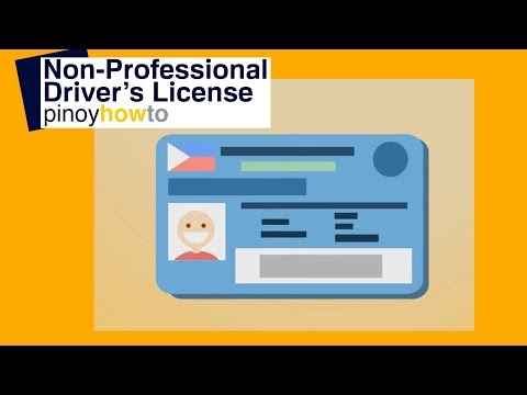 Non Professional Driver's License : How to get a Non Professional LTO Driver's License | PinoyHowTo