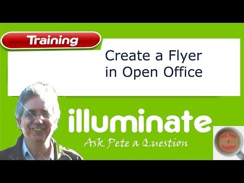 create a flyer using open office