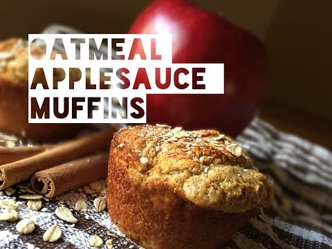 Healthy Muffin Recipe | How To Make Low Calorie, Low Fat and Low Carb Oatmeal Applesauce Muffins