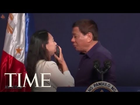 Philippine President Rodrigo Duterte Kissed A Married Woman On The Lips | TIME