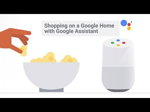 Shopping on a Google Home with Google Assistant
