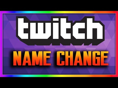 HOW TO CHANGE YOUR TWITCH USERNAME!