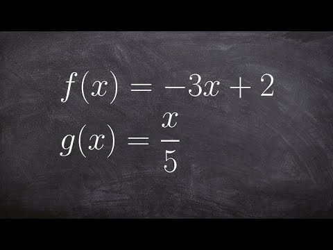 Find the Value of the Composition of Two Functions