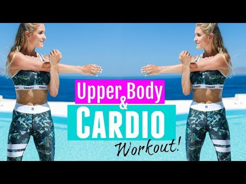 Upper Body & Cardio Workout - FAT BURNING EXERCISES  | Rebecca Louise