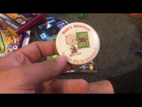 Rare Turbografx find in the wild!! Turbografx advertising pin Bonk's Adventure !