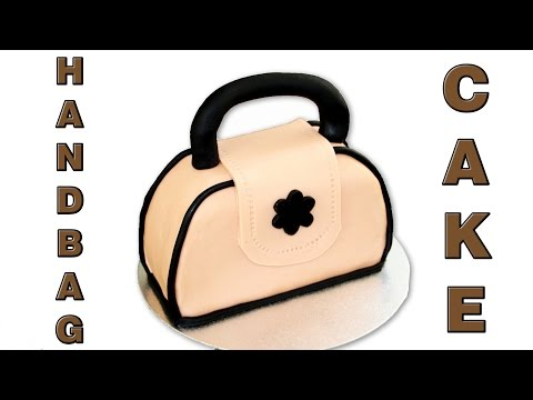 How to make a Handbag Cake, Really Easy Tutorial Video | HappyFoods