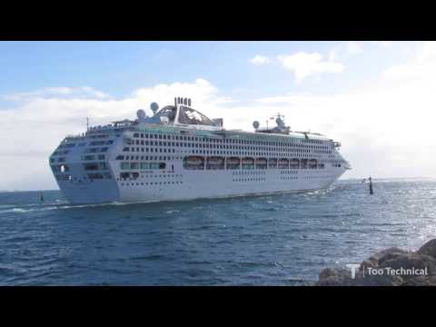 Sun Princess Departure from Perth (Fremantle)