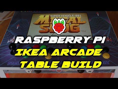 Raspberry Pi IKEA Retro Arcade Gaming Table Build