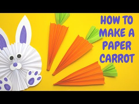 How to Make a Paper Carrot | Easter Craft Ideas