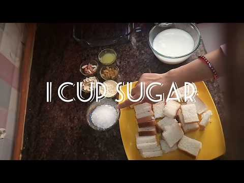 How to make bread custard pudding / Easy recipe of bread custard pudding / Bread custard pudding at
