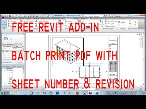 Free Revit Add-in Print pdf with sheet number and revision