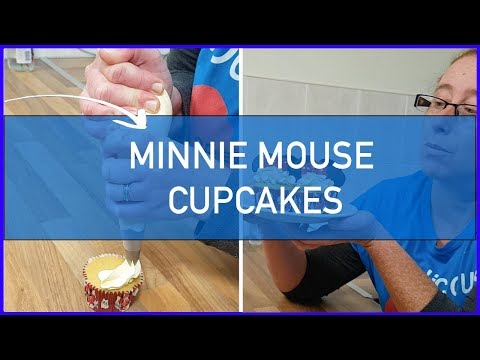 How to Make Minnie Mouse Cupcakes - Disney Cupcakes