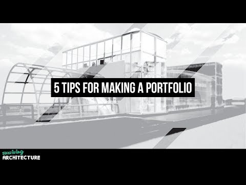 How to make a portfolio for Architects, Interns and Students  (Part 1)
