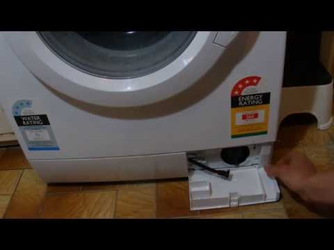 How to Clean the Bottom Pump Cover on a Front Loading Washing Machine - Tutorial