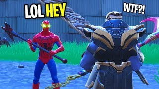 Download I GOT THE SPIDERMAN SKIN IN FORTNITE! (Then I FOUND THANOS!) Video