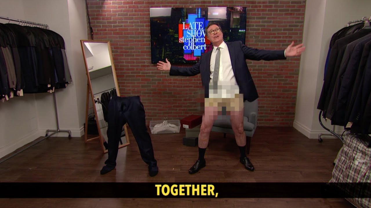 Stephen Colbert Puts His Pants Back On For THE Late Show