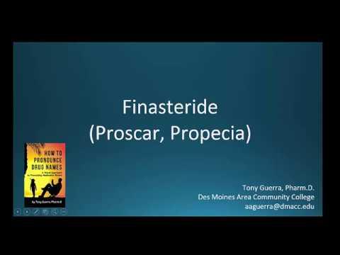 (CC) How to Pronounce finasteride brand name Proscar, Propecia Backbuilding