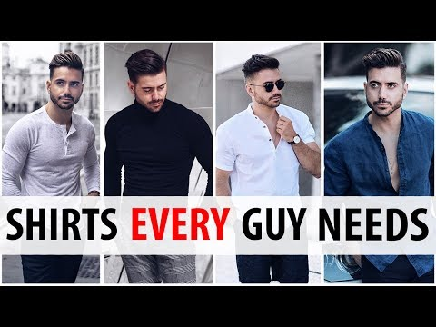 5 Shirts Every Guy Needs in His Wardrobe | Men's Style Essentials | Alex Costa 2017