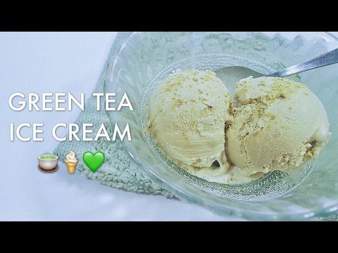 5 INGREDIENTS GREEN TEA ICE CREAM