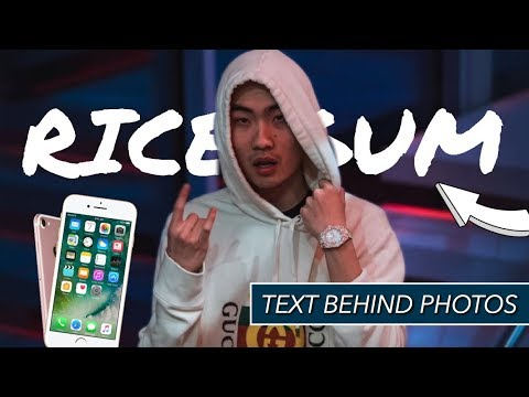 HOW TO ADD TEXT BEHIND YOUR PHOTOS ON IPHONE | 2018