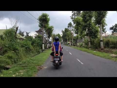 Riding Motorbikes in Bali, Indonesia