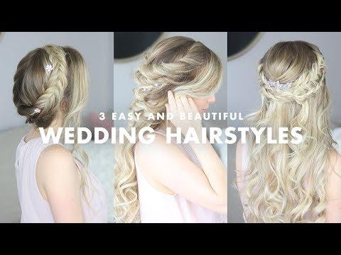 3 Beautiful Wedding Hairstyles