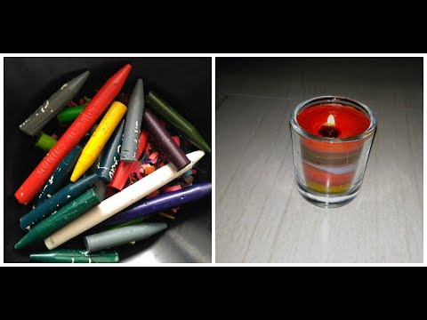 How to make candles with waste crayons | without wax for diwali and christmas festival celebration