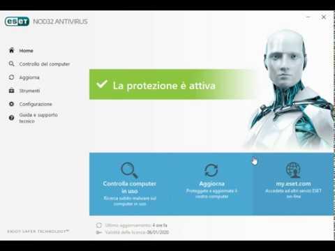 Come eseguire scansione pianificata Eset Nod32 Antivirus
