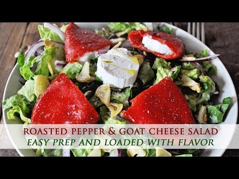 Spanish Roasted Pepper and Goat Cheese Salad