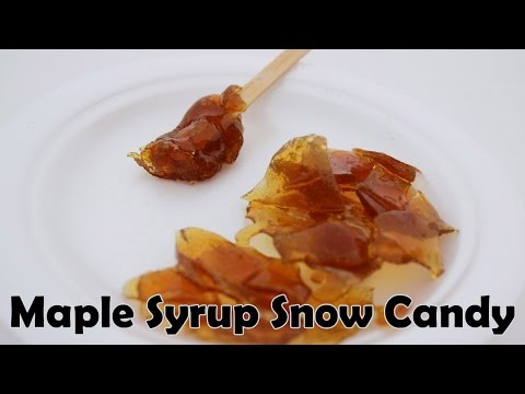Maple Syrup Snow Candy