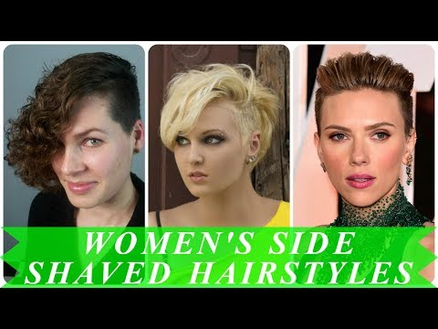 20 popular ideas for women's haircut with shaved sides
