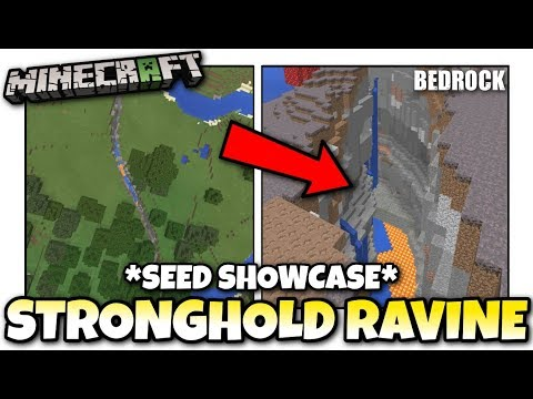 Minecraft - STRONGHOLD in a RAVINE [ Seed Showcase ] MCPE / Xbox / Bedrock
