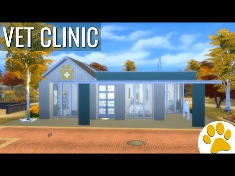 Vet Clinic Perfect Paws - The Sims 4 Cats and Dogs Building - NO CC