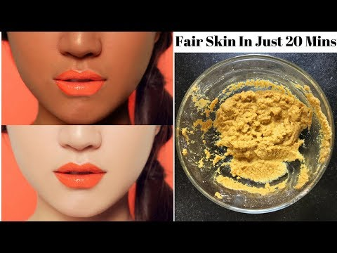 How To Get Fair Skin Naturally In Just 20 Minutes | Skin Whitening Treatment | 100% Working