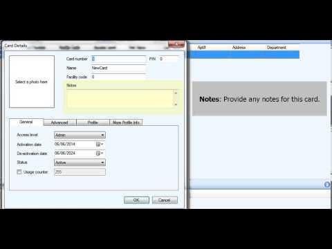 TX3 Configurator - How to Create an Access Control Card