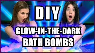GLOWING DIY BATH BOMBS?! | Makeup Mythbusters w/ Maybaby and Devon Reese