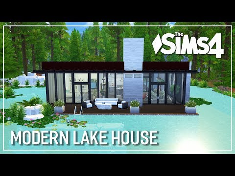 The Sims 4 Speed Build - Modern Lake House