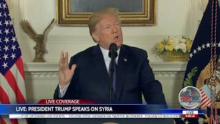 🚨 WATCH: President Trump Announces US Strikes on Syria 4/13/18