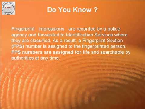 Fingerprints  - To remove your cirminal record