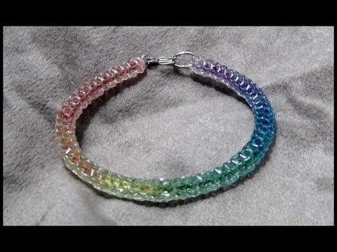 ►The Crystal Hippie Bracelet - Craft Tutorial 16 (Original Rainbow Boondoggle)