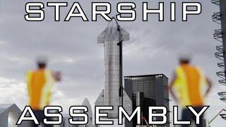 Starship assembly animation - remaster